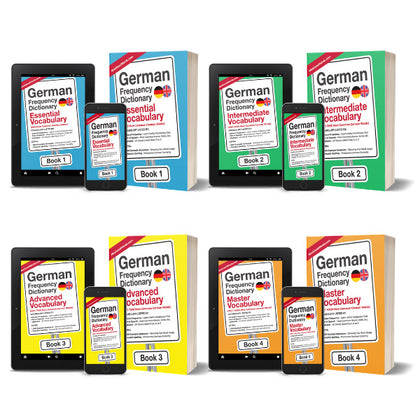 4 German Frequency Dictionaries Set - Top 10000 Most Common German WordsMostUsedWordsFrequency Dictionary MostUsedWords