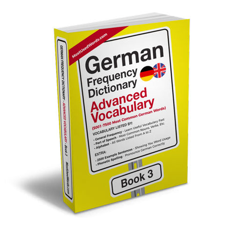 German Frequency Dictionary 3 - Advanced Vocabulary