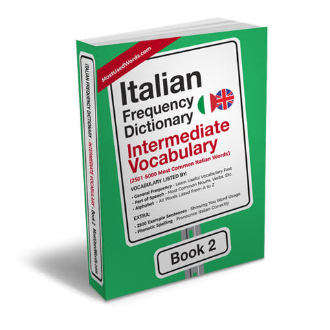 Italian Frequency Dictionary 2 - Intermediate Vocabulary - Frequency Dictionary - MostUsedWords