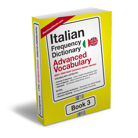 Italian Frequency Dictionary 3 - Advanced Vocabulary - Frequency Dictionary - MostUsedWords