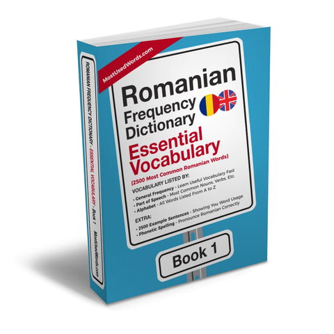 Romanian Frequency Dictionary 1 - Essential Vocabulary - 2500 Most Common Romanian WordsMostUsedWordsFrequency Dictionary MostUsedWords