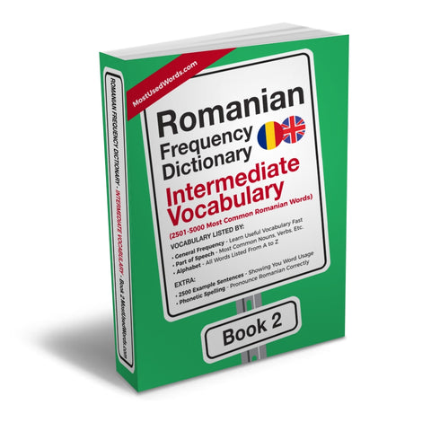 Romanian Frequency Dictionary 2 - Intermediate Vocabulary - 2501 - 5000 Most Common Romanian Words E-BOOK PDF