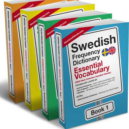 The Complete Swedish Frequency Dictionaries Collection - Frequency Dictionary - MostUsedWords