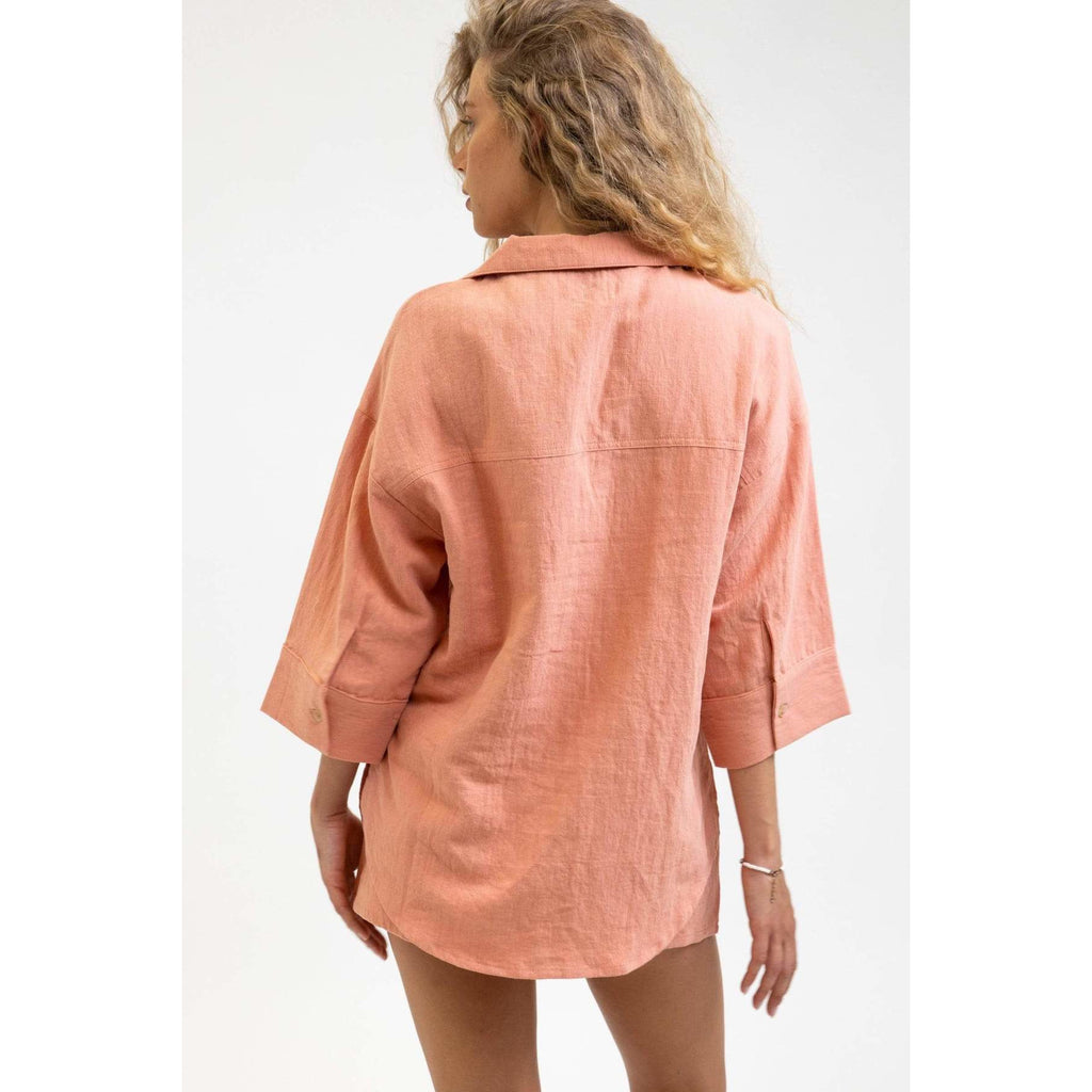 rhythm LINEN LOUNGE TOP