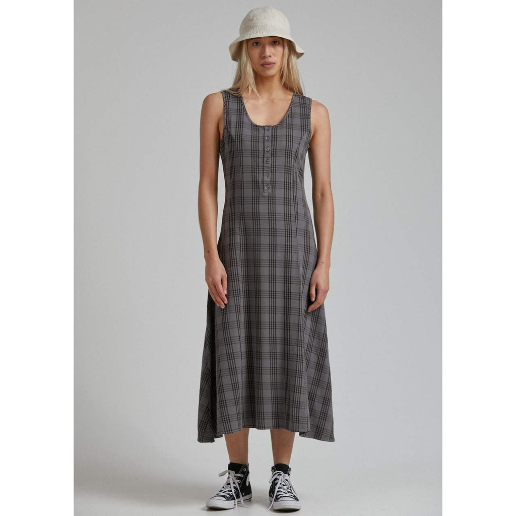 STARFIELD CHECK MIDI DRESS