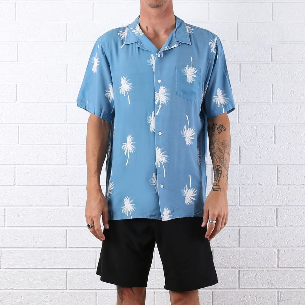 FACE PALM SHORT SLEEVE MENS SHIRT OCEAN