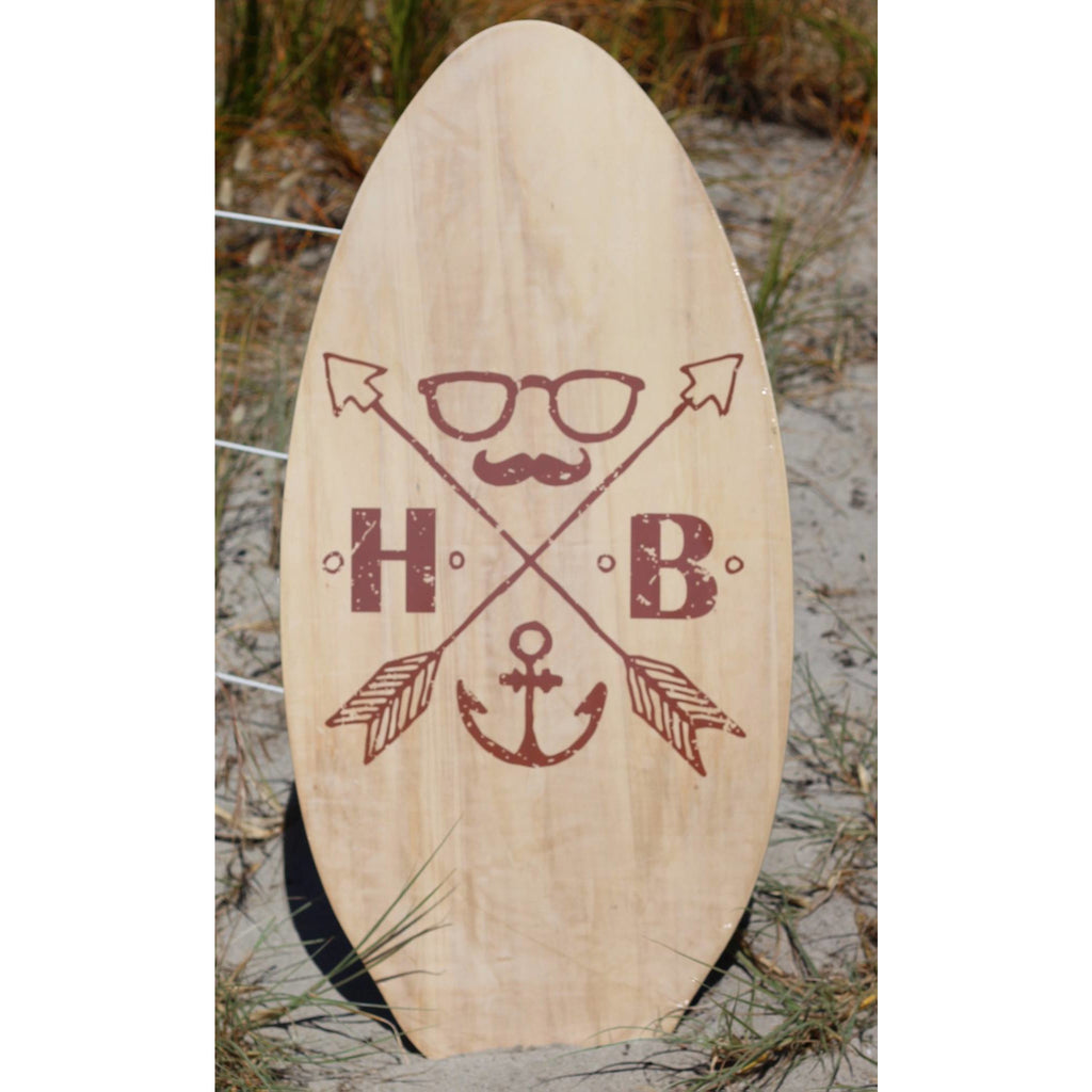 WOODEN SKIM BOARD HULA BEACH