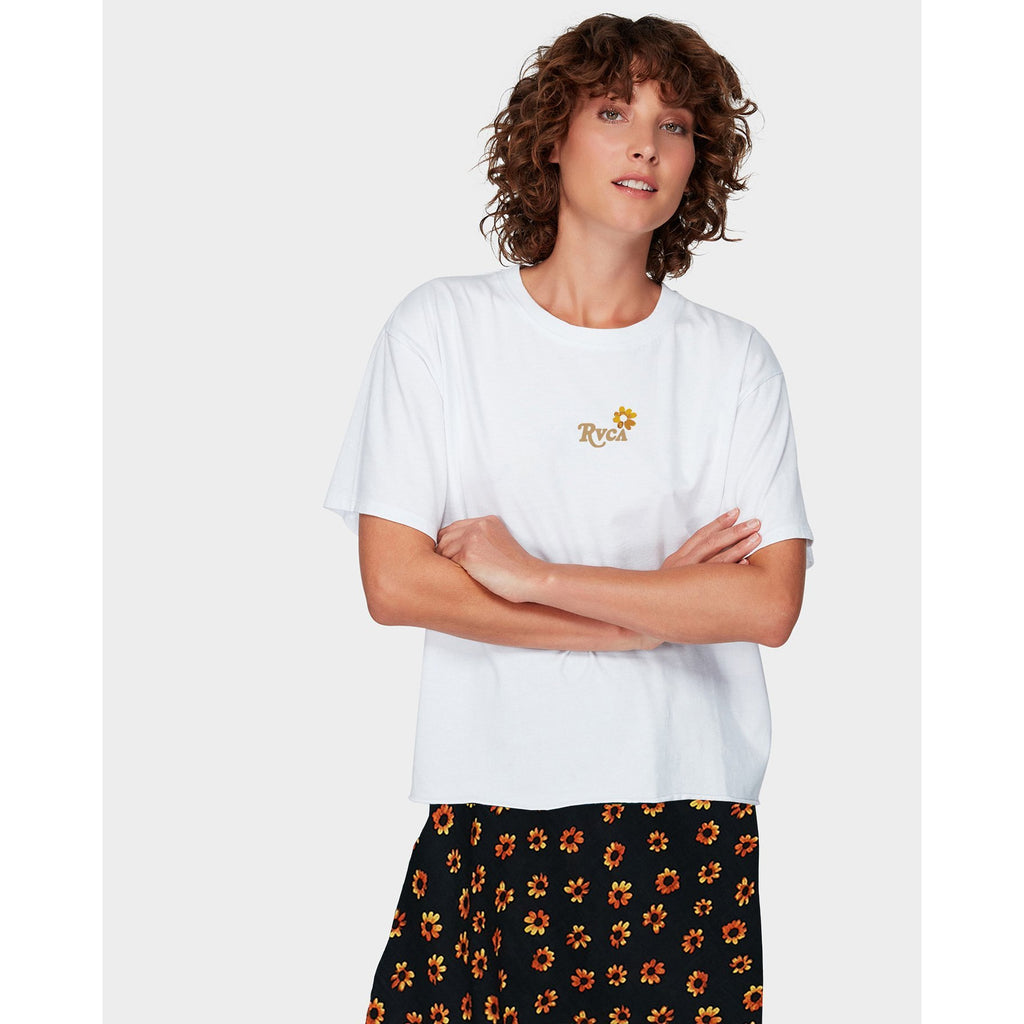 RVCA DAISIES TEE MOUNT SURF SHOP