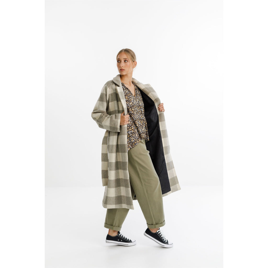 thing thing CLEMENT COAT SOFT CHECK