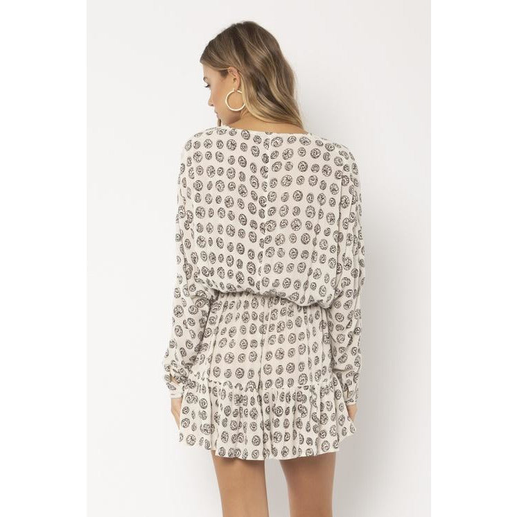 SPELLBOUND WOVEN MINI DRESS