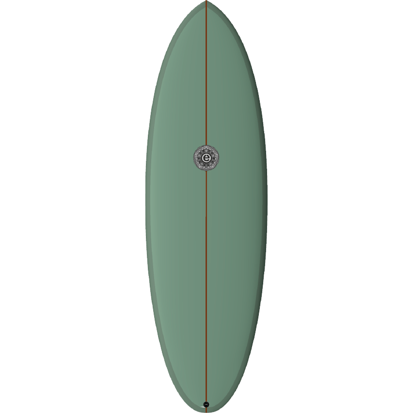 ELEMNT SCRAMBLED EGG SURFBOARD GREEN