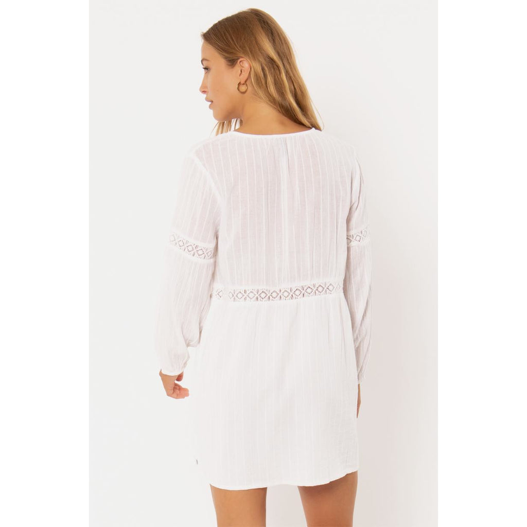 SAVANNAH WVN L/S DRESS