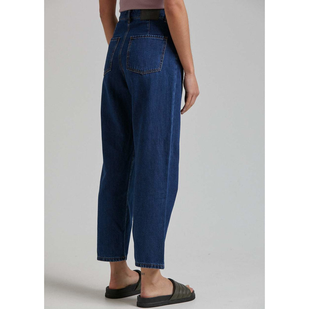 SHELBY HEMP DENIM HIGH WAIST WIDE LEG JEAN