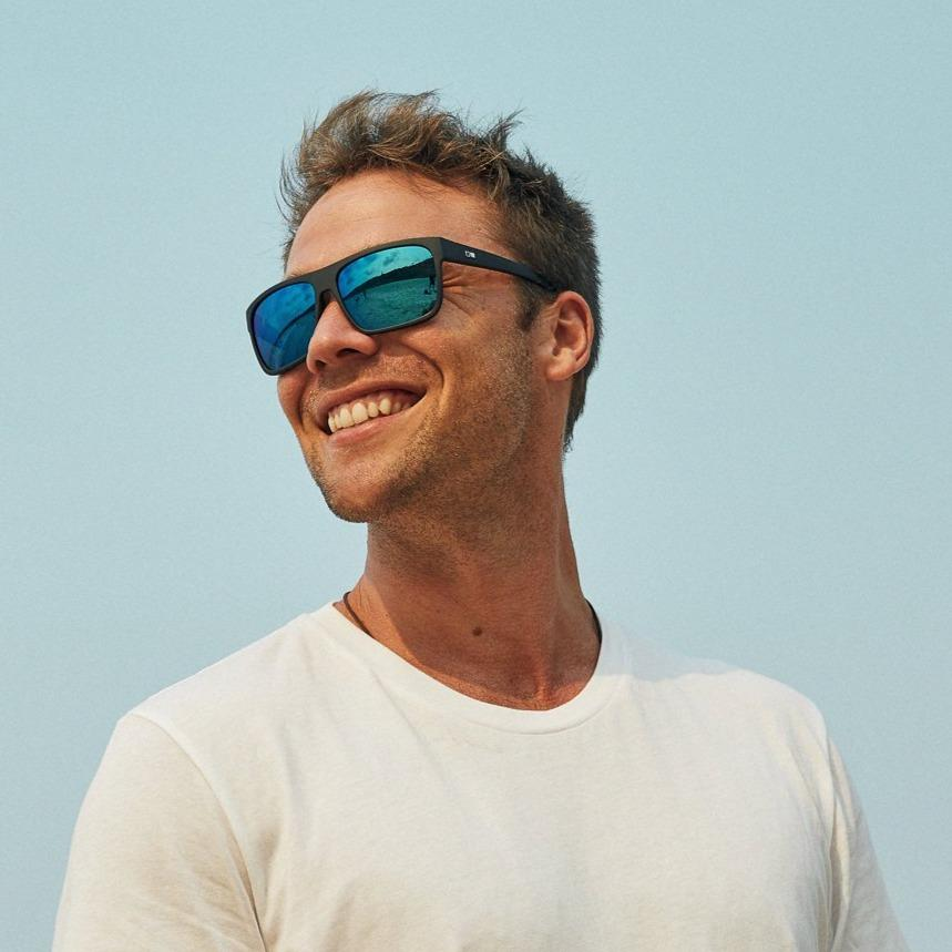 AFTER DARK - MATTE BLACK / MIRROR BLUE OTIS SUNGLASSES
