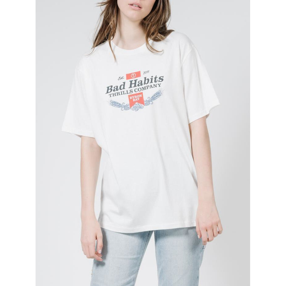 BAD HABBITS MERCH TEE DIRTY WHITE