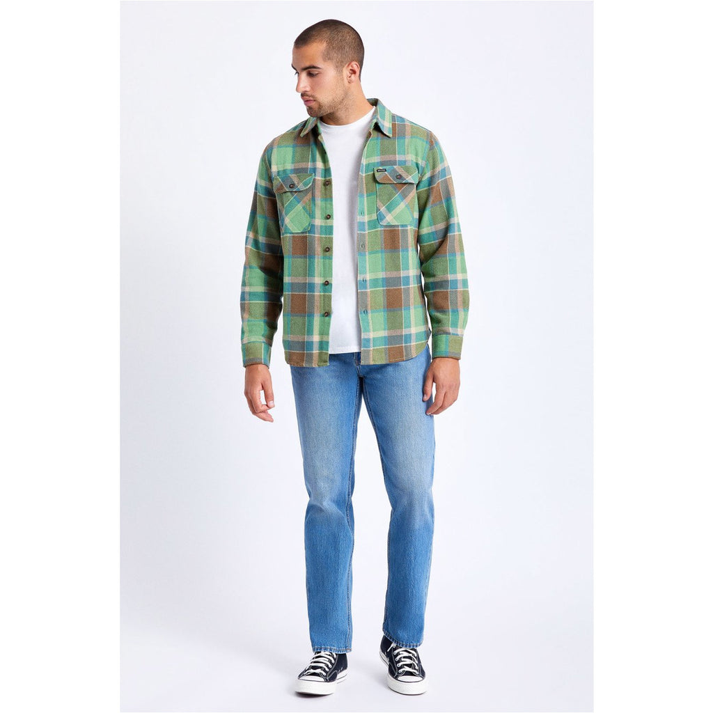 brixton bowery flannel toffee