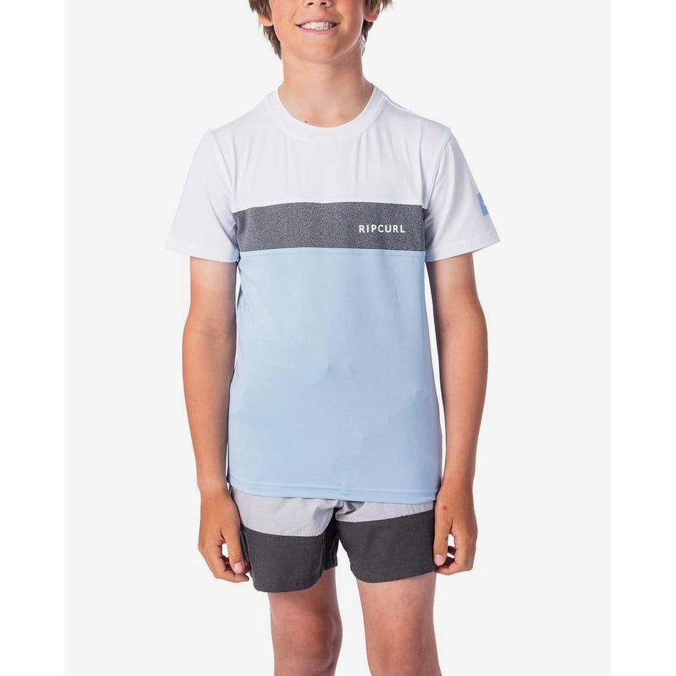 BOYS UNDERLINE PANEL SHORT SLEEVE
