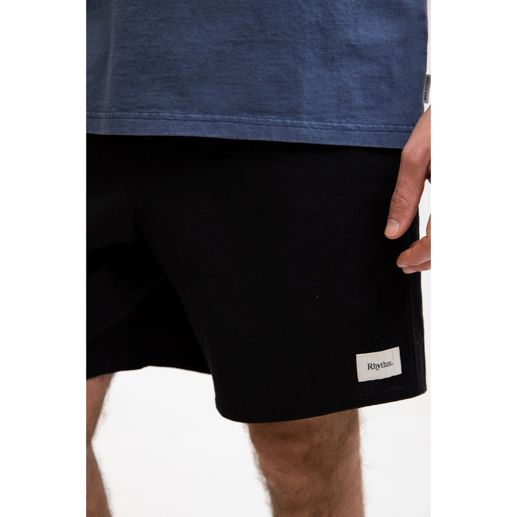 ESSENTIAL LINEN JAM SHORTS BLACK