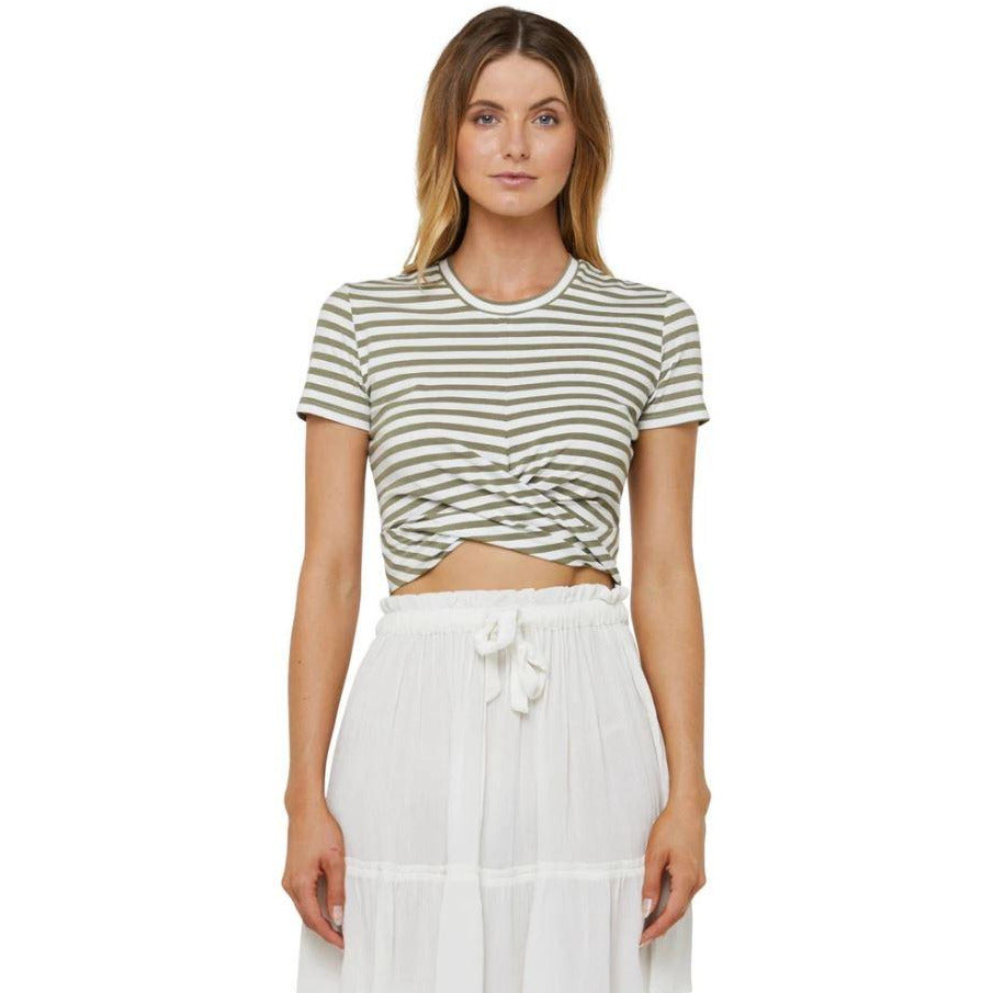 O'NEILL EMBRACE TEE WOMENS ARMY STRIPE