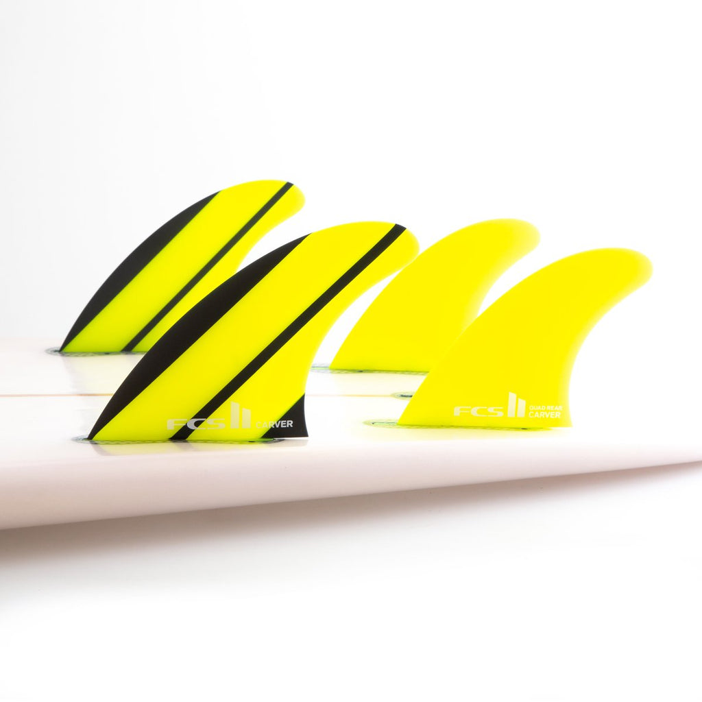 FCS II CARVER NEO GLASS QUAD REAR FIN SET