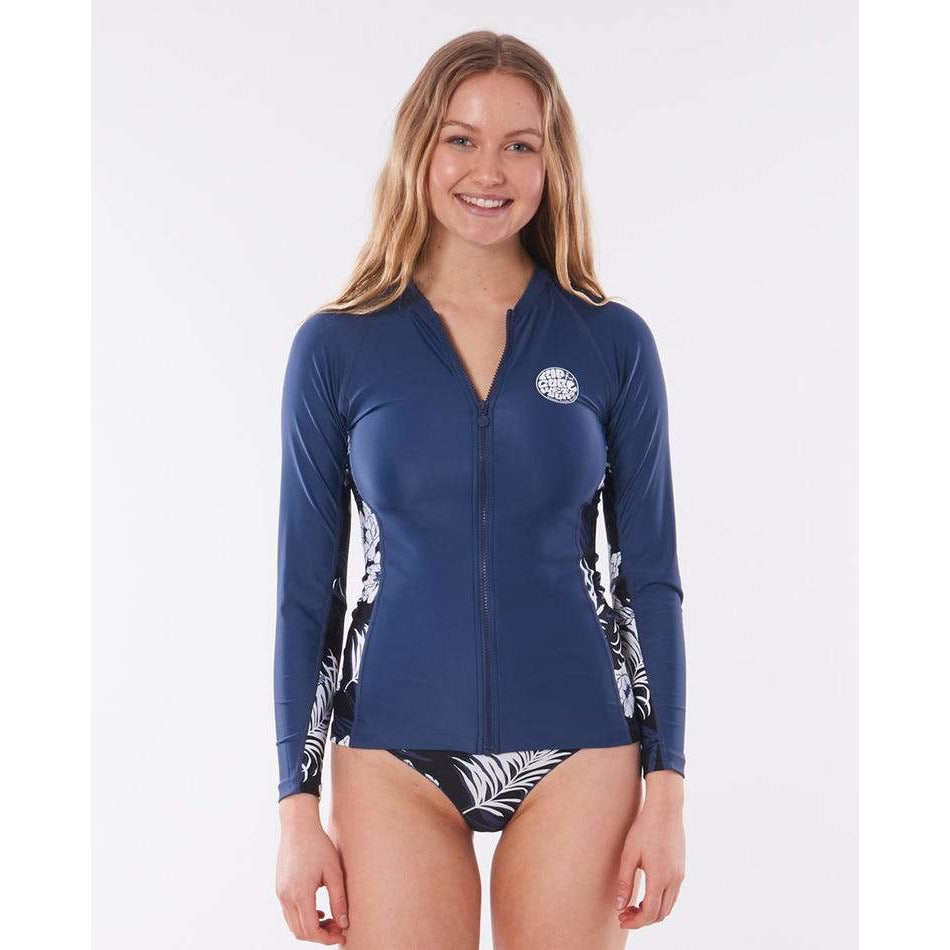 HACIENDA ZIP THRU LONG SLEEVE RASH VEST RIP CURL