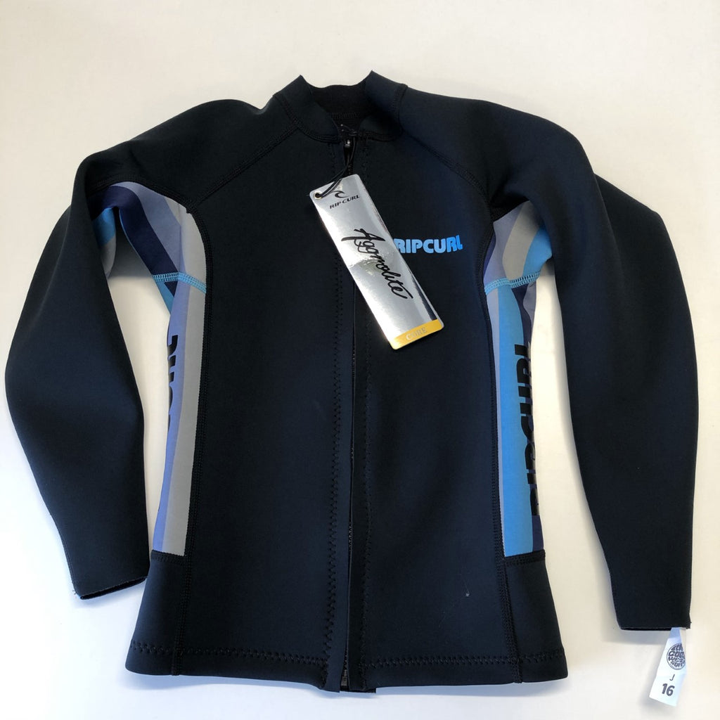 JUNIOR AGGRO LONG SLEEVE FRONT ZIP JACKET BLUE