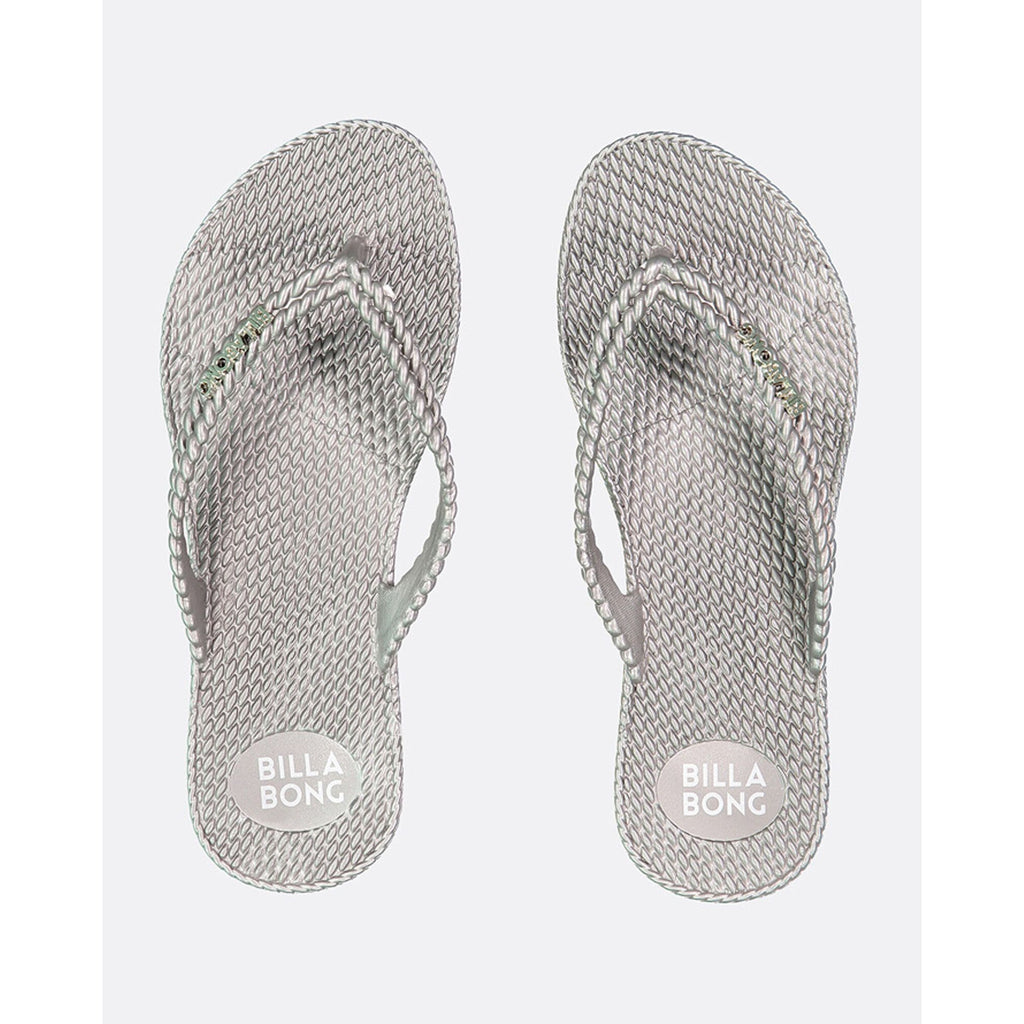 BILLABONG KICK BACK THONG SILVER