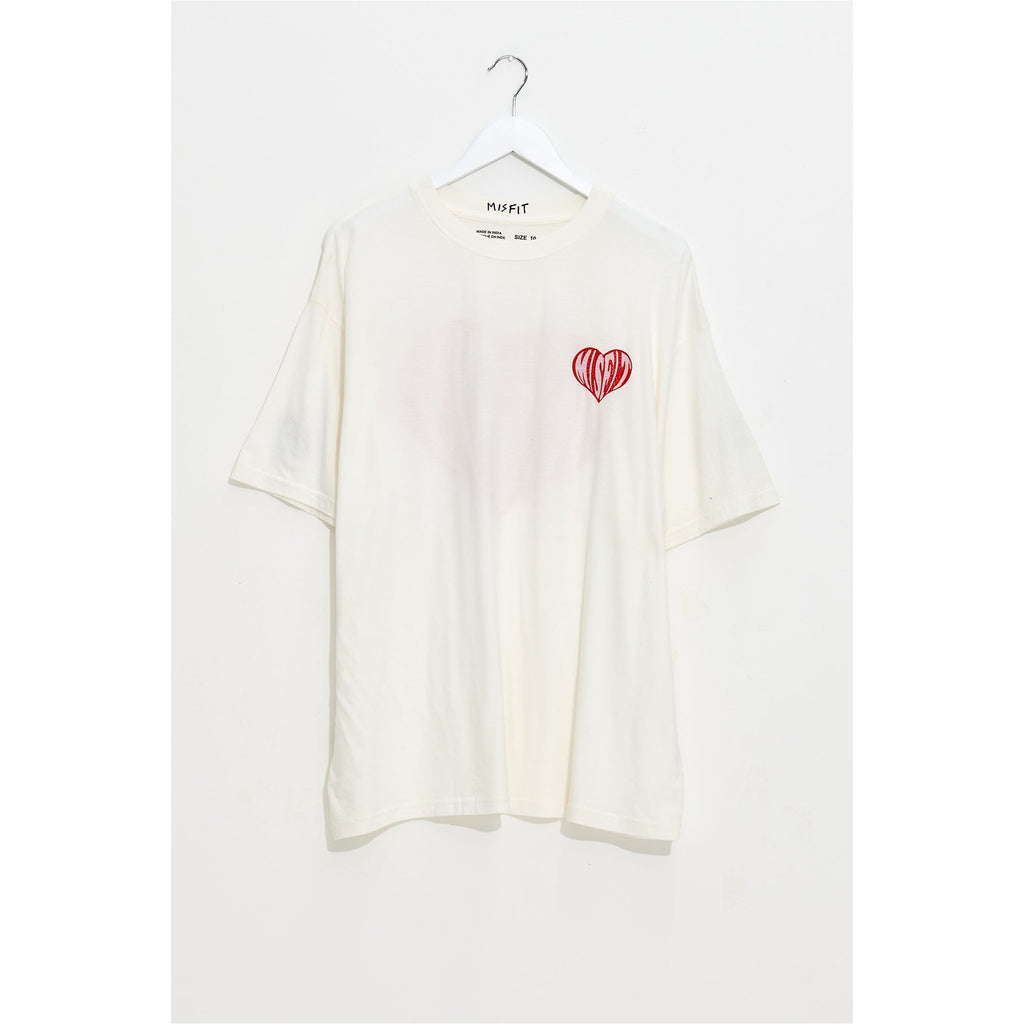 BAKE ME OVERSIZED TEE - WASHED WHITE