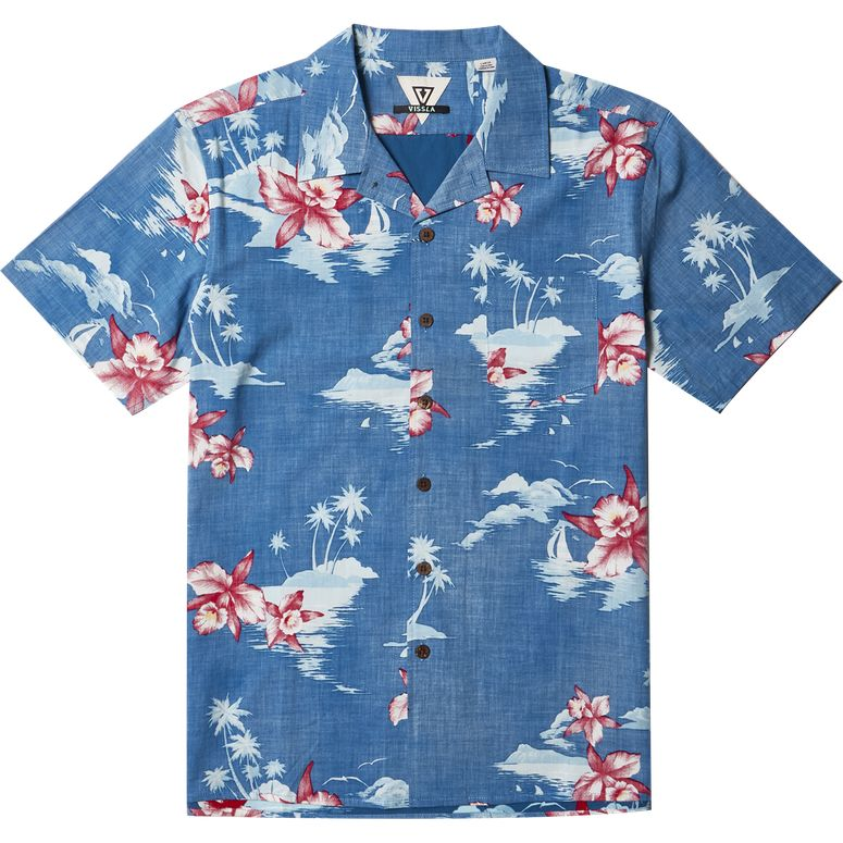 MIDNIGHT ALOHA SHORT SLEEVE SHIRT