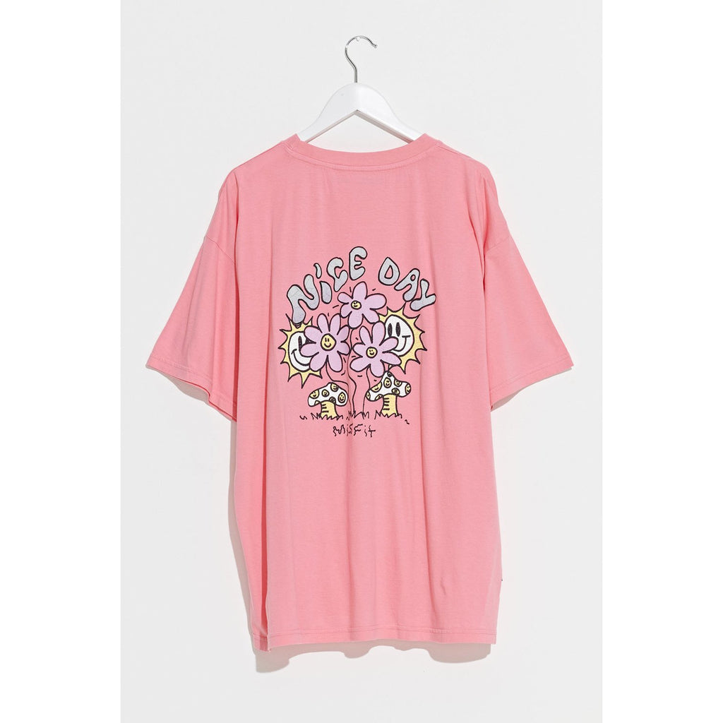 OPTO-MIST OVERSIZED TEE STRAWBERRY PINK