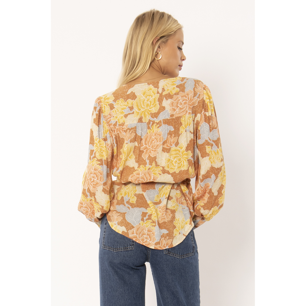 SHEANA LONG SLEEVE WOVEN BLOUSE AMUSE SOCIETY