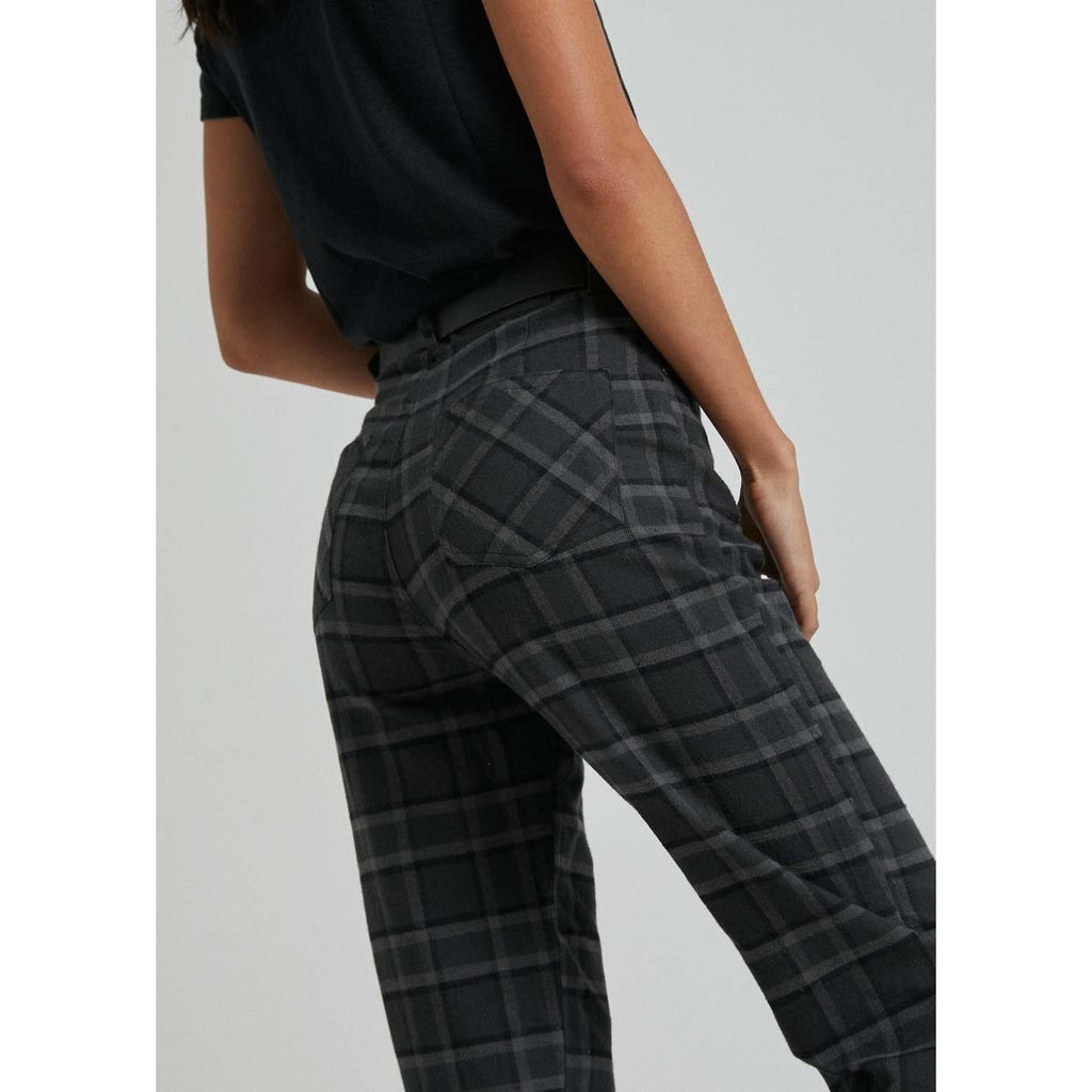 SHELBY ALICE HEMP CHECK WIDE LEG PANT