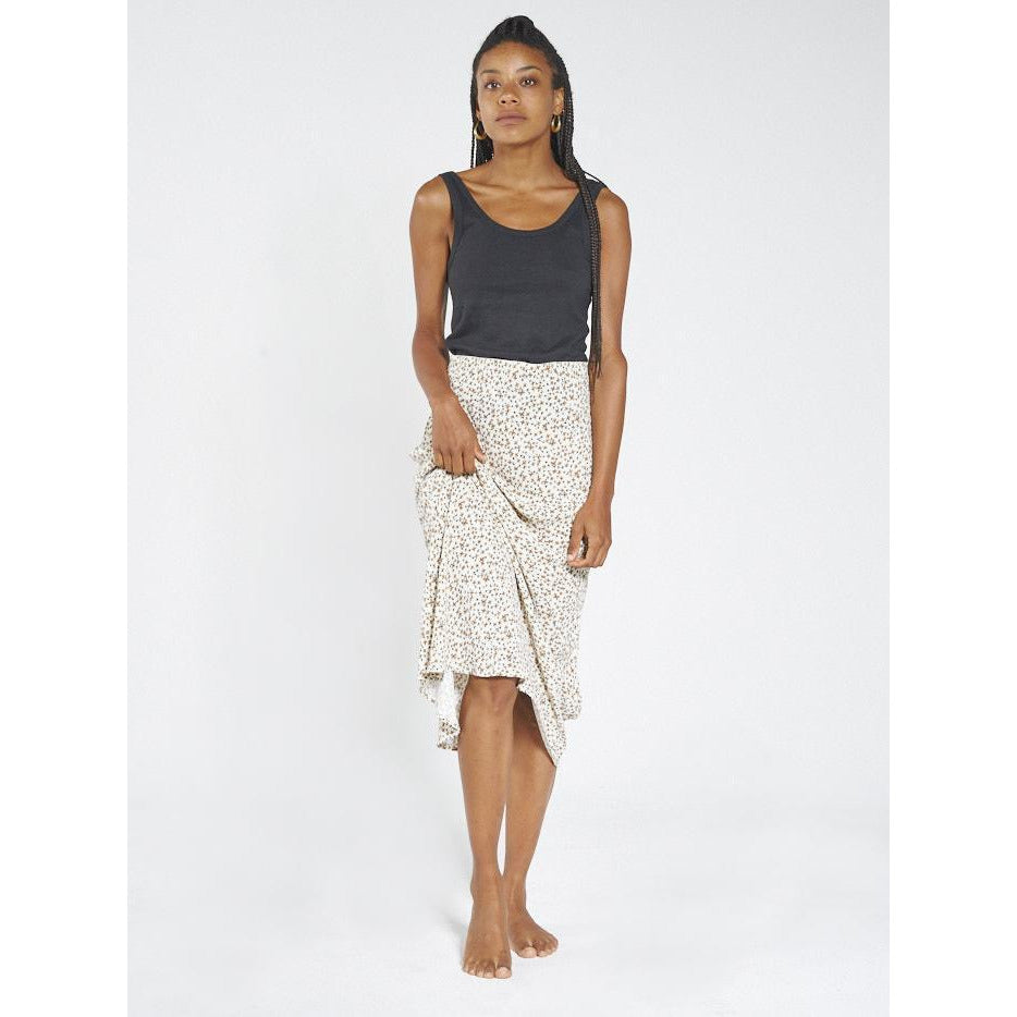 THRILLS ACACIA BIAS SKIRT THRIFT WHITE
