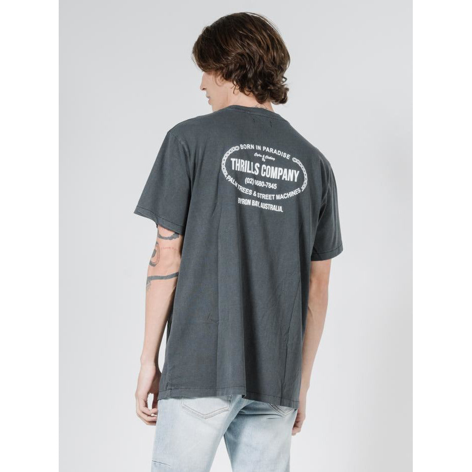 THRILLS GARAGE MERCH FIT TEE MERCH BLACK