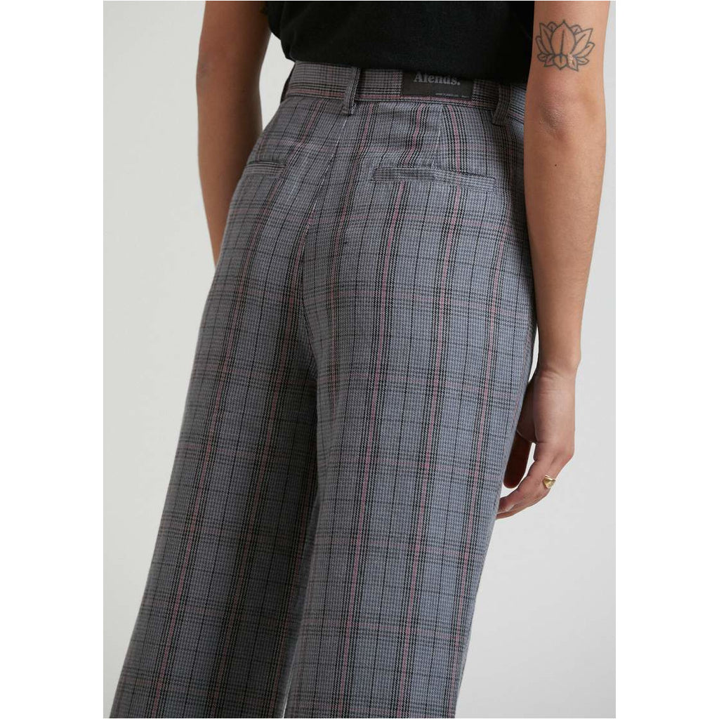 AFENDS MAISIE - HEMP CHECK FLARED PANT