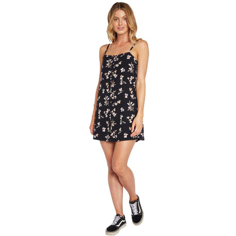 POPPY DRESS O'NEILL BLACK FLORAL