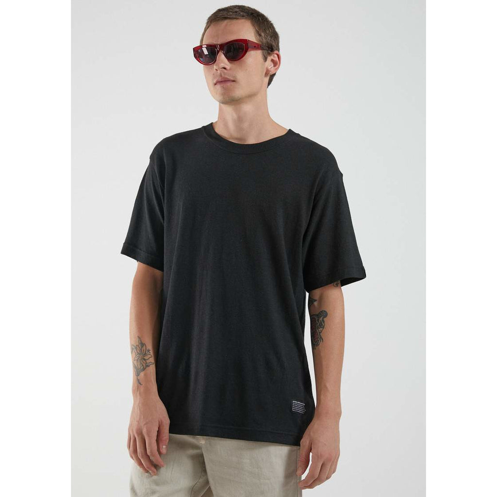 classic hemp retro fit tee black