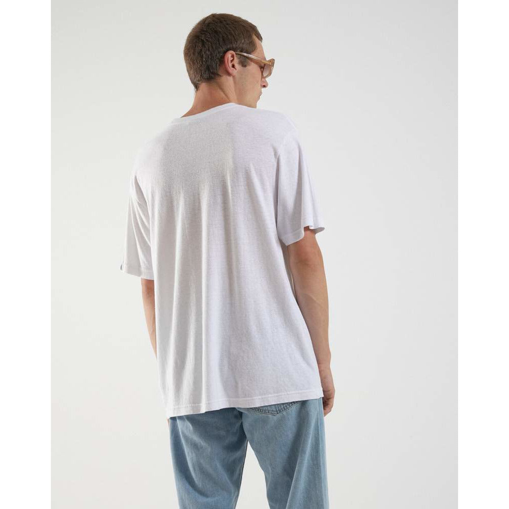 classic hemp retro fit tee white