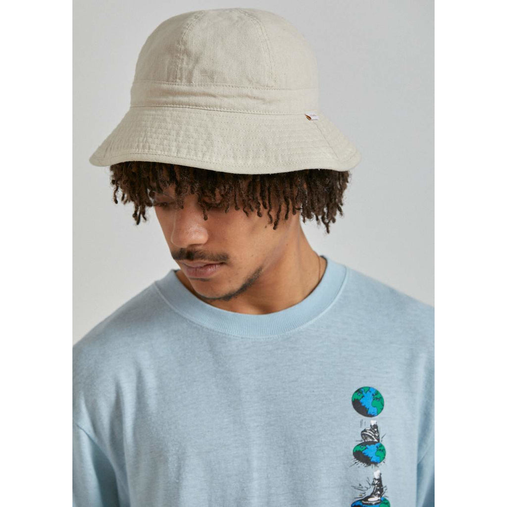 CONGO HEMP BUCKET HAT bone