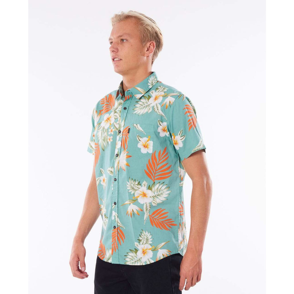 Rip Curl Vidasoul Short Sleeve Shirt Teal