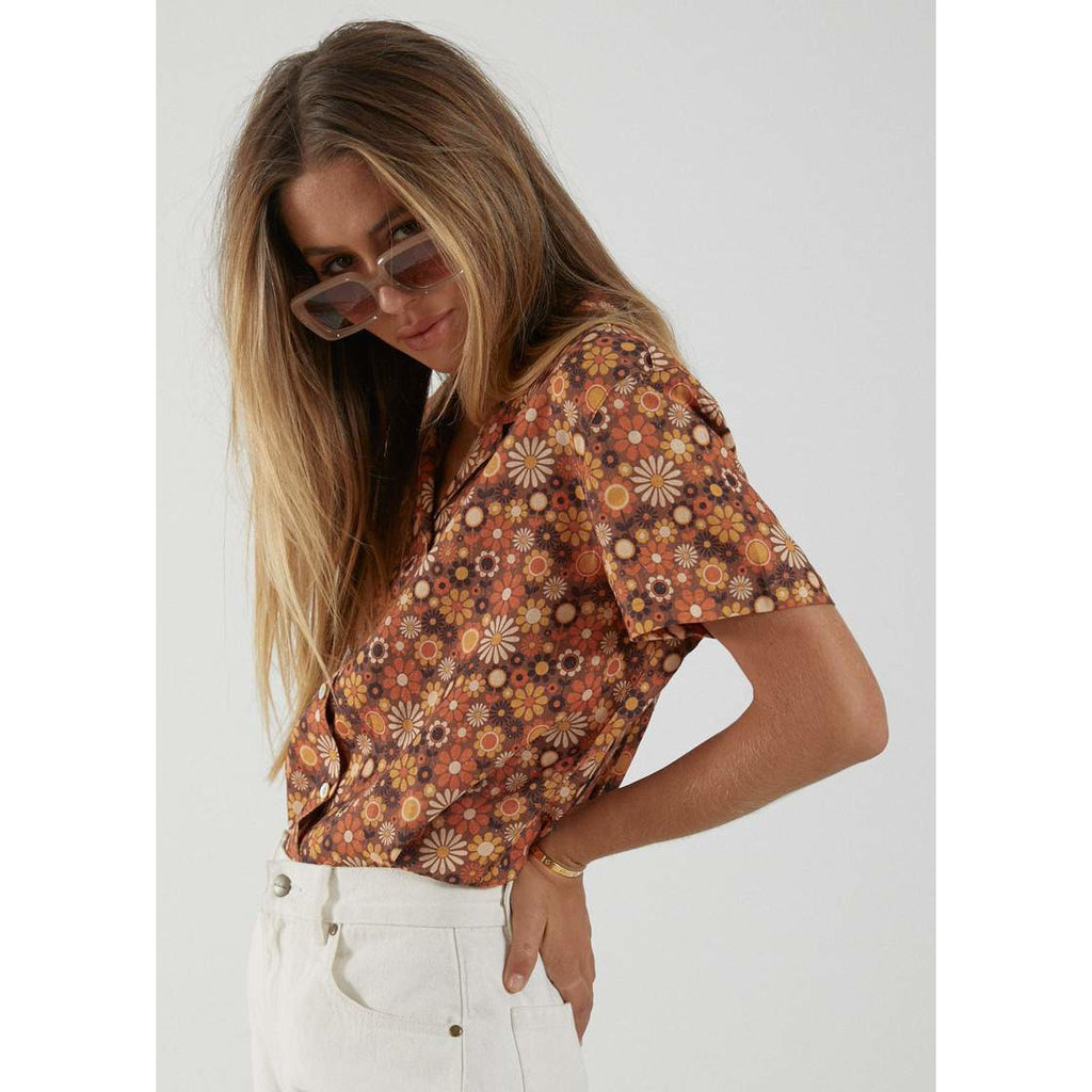 afends daisy may hemp short sleeve shirt