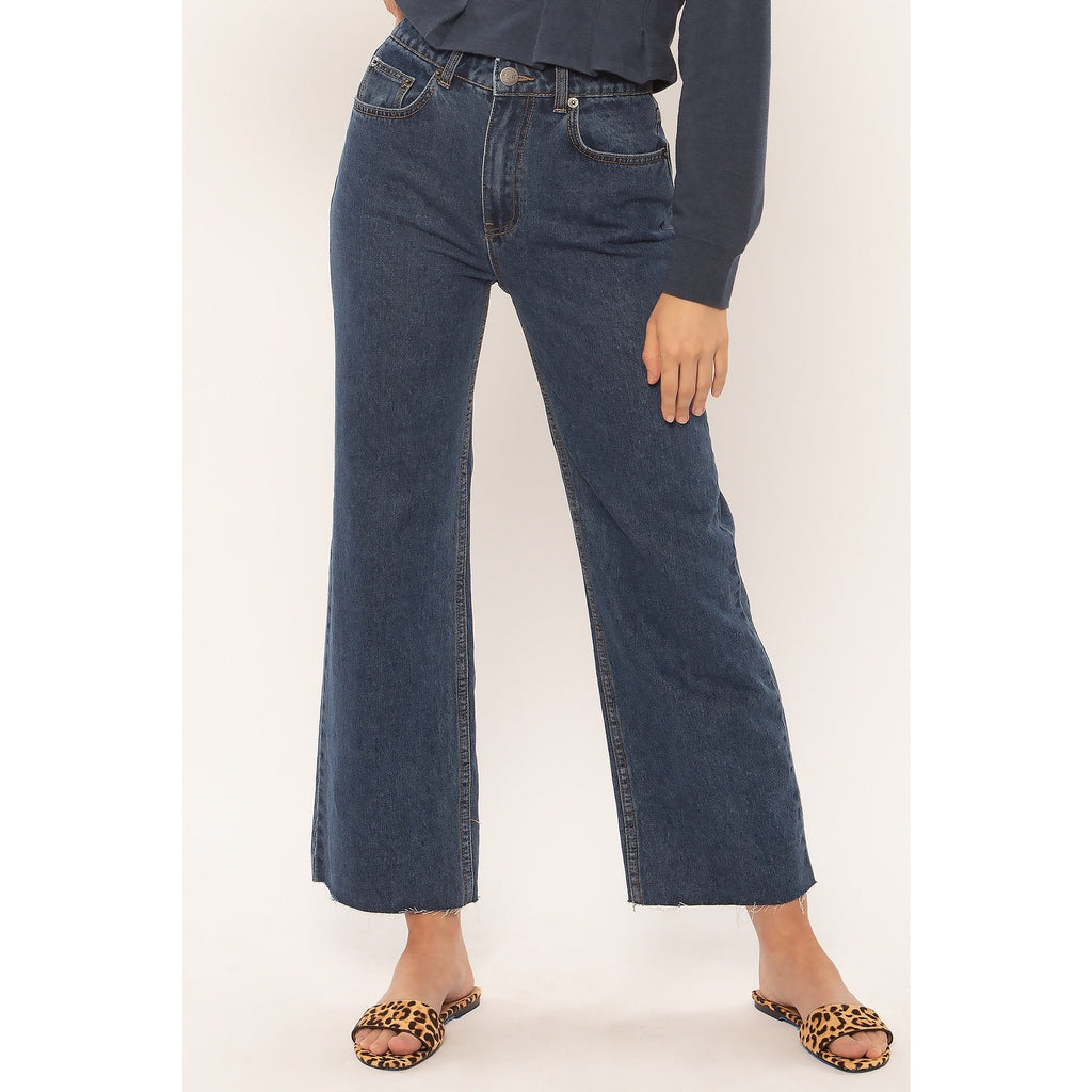 GABI CROP FLARE WVN DENIM PANT