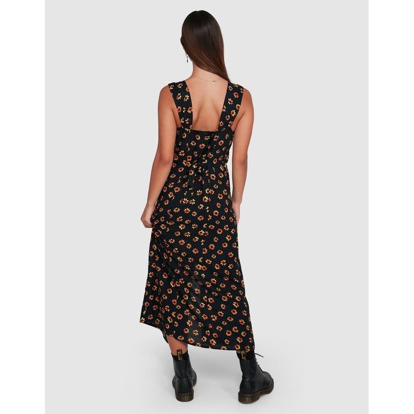 RVCA PUSHIN DAISIES MIDI DRESS MOUNT SURF SHOP