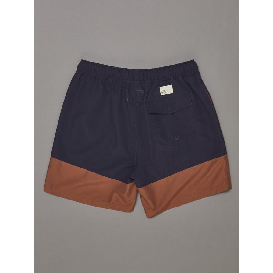 SNAPPER LOGO SHORTS JUST ANOTHER FISHERMAN NAVY RUST