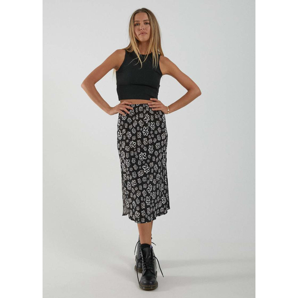 afends LOLA HEMP MIDI SKIRT