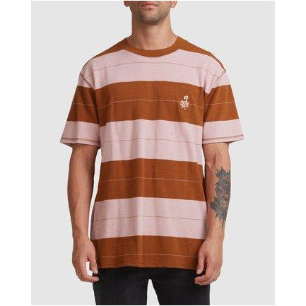 RVCA PEACE MARCH STRIPE TEE
