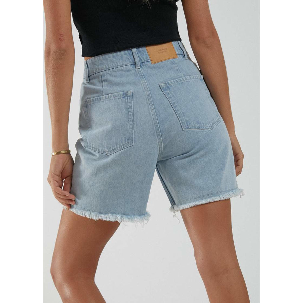 afends SHELBY HEMP DENIM CUT OFF SHORTS