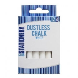 Chalk White Dustless 12pc 12/144