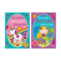 Colouring Book Mermaid & Unicorn 72pg 12/48