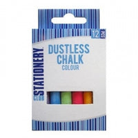 Chalk Coloured Dustless 12pc  12/144